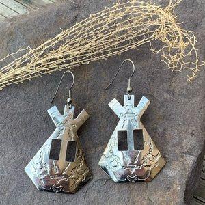 ALL JEWELRY 3/$24 Southwest concho teepee earrings